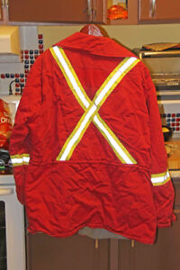 Work Coat - Red Insulated
