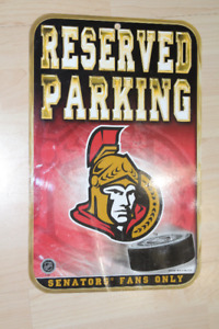 Ottawa Senators NHL Fan Reserved Parking Sign Plate
