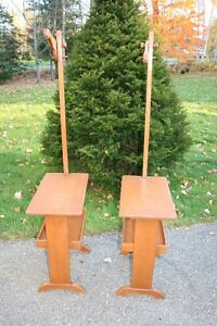 Solid Maple - Antique Lamp Stands