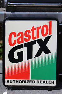 CASTROL GTX DOUBLE SIDED SIGN NEW PRICE