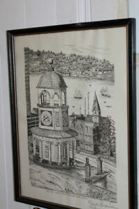 Vintage, Signed Halifax  Old Town Clock pic