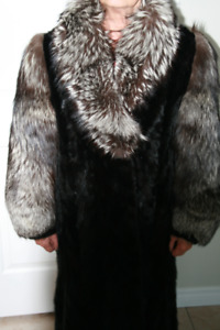 Silver Fox and Mink Fur Coat