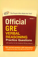 Official GRE Verbal Reasoning, Vol 1 (ETS Publication)