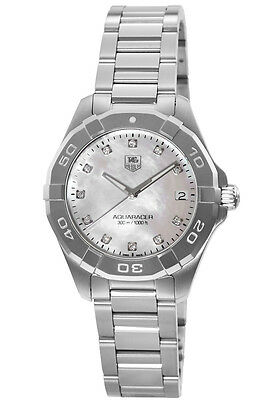 New Tag Heuer Aquaracer Lady 300M 32MM Diamond Women's Watch WAY1313.BA0915