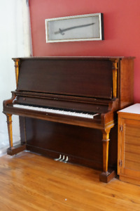 Heinztman Upright Grand Piano + Stool