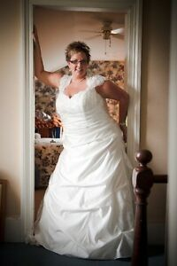 Ivory Plus Size Wedding Gown  650.00 OBO MUST SELL