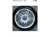 "17"" tsw alloy wheels 5x114.3 pcd good condition with few minor mark tyre ok"