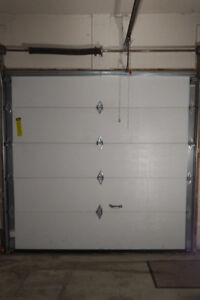 Garage Door - 8(w) x 8, Insulated, Beige, Raised Panels (1)