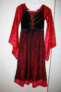 Girls Vampire/ Devil dress - size 10-12