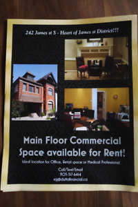 242 James st S - Main floor for rent !!! Across from Hospital