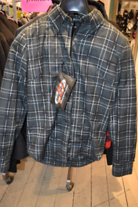 MEN AND WOMENS  ARMOURED PLAID JACKETS AT HALIFAX MOTORSPORTS!!