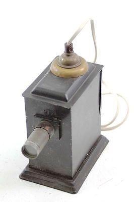 schöne alte elektr. Laterna Magica mit 3 Optiken Dia Diaprojektor Projektor