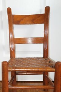 antique childs chair  25 1/2 in high