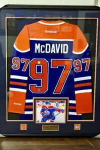 Connor McDavid rookie signed and professionally framed jersey