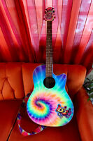 Ovation Tie-Dye Acoustic-Electric Guitar!!