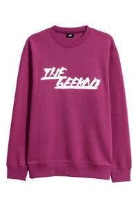 (Large) BRAND NEW WITH TAG WEEKND XO MAGENTA SWEATER (H&M)