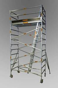 Aluminium Mobile Scaffold 0.7 & 1.3 (W) x 2.5 (L) x 4.0m Platform Revesby Bankstown Area Preview