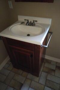 Bathroom Vanity Set - Walnut, Faucet, Med Cabinet, 24(w) x 21.5