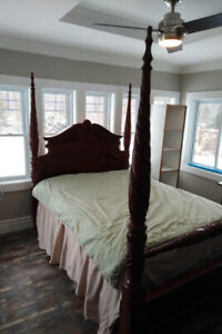Queen size bed and dresser fit for King Henry VIII