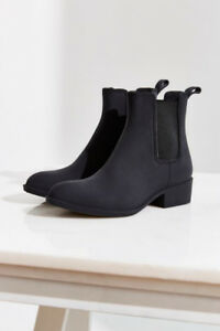 Jeffrey Campbell Black Ankle Rainboots Size 6 (Worn)