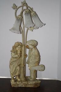 Shy Little Girl & Flirting Little Boy Crosa Collection Lamp