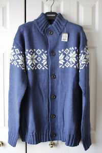 New pure wool cardigan sweater Unisex 2XL - 3XL