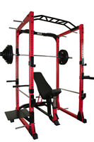 Power Rack / 310lb Rubber Olympic Set & Bench - NEW IN BOX