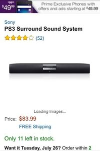Selling my PS surround sound w/PS universal remote (PS3)