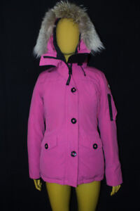 Pre-owned Canada Goose® AUTHENTIC Small Montebello Parka Summit