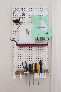 Awesome peg board and accessories.