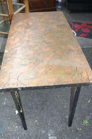 Nice foldable table with metal frame