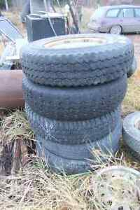 4 assorted 235/85 16 Tires 2 ford 8 hole wheels Prince George British Columbia image 2