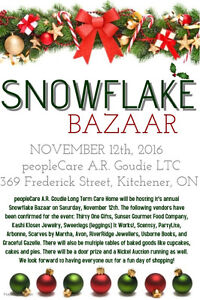 peopleCare A.R. Goudie LTC Snowflake Bazaar Kitchener / Waterloo Kitchener Area image 1