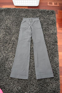 Grey Lululemon Pants- Size 2 Tall & Good Used Condition