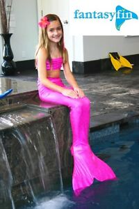 SWIMMABLE MERMAID TAIL & MONOFIN BY FANTASY FIN - SPARKLE PINK