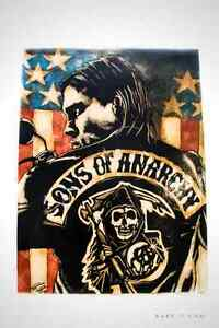 PEINTURE EXCLUSIVE RARE -T 'JAX-SONS OF ANARCHY'