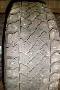 4 195/65/15 studded winter tires on steel rim 5x100 bolt pattern