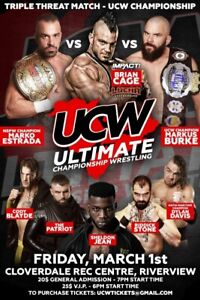 ULTIMATE CHAMPIONSHIP WRESTLING FRI MAR 1 RIVERVIEW NB COVERDALE