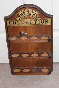 Vintage-Style Shot Glass Collection Holder