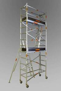 0.7 X 2.5 X 6.0 PLATFORM- ALUMINIUM MOBILE SCAFFOLD Revesby Bankstown Area Preview