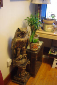 large owl and stand
