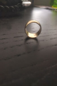 Gold wedding band. Made at Cresham Jewellers in Mississauga.