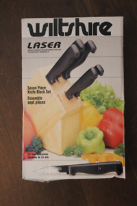 Wiltshire laser knife set with Block