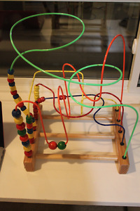 Educo Hape Supermaze Bead Frame Wooden Toy