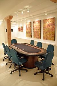 Tables de jeux de poker professionnelles