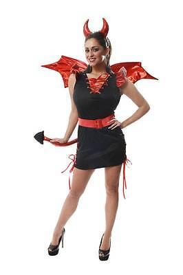 Damen Outfit Rot und Schwarz Sexy Teufel Halloween - Schwarzer Teufel Kostüm Damen
