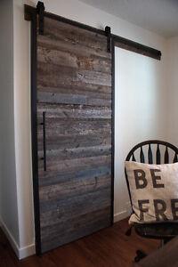 Reclaimed Wood & Iron Barn Door By LIKEN Woodworks