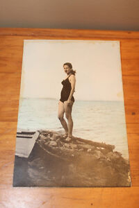 Vintage Photograph - Woman In Bathing Suit London Ontario image 1