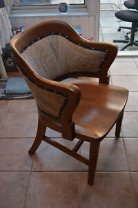 Wooden upholstered chair for sale