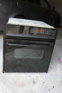 "GE PROFILE WALL OVEN RANGE BLACK 27"" VERY CLEAN"